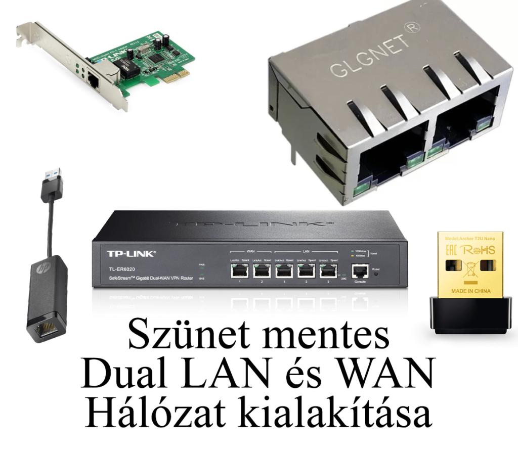 Munka mellé állandó internet, avagy: Hogyan alakítsunk ki szünetmentes Dual LAN illetve WAN hálózatot.